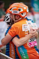 Obliteride riders hugging